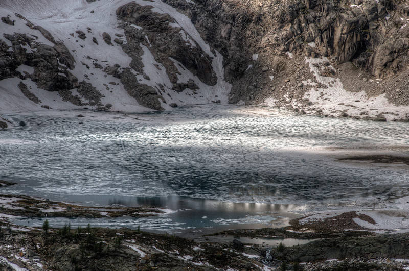 Icy Cobalt Lake
