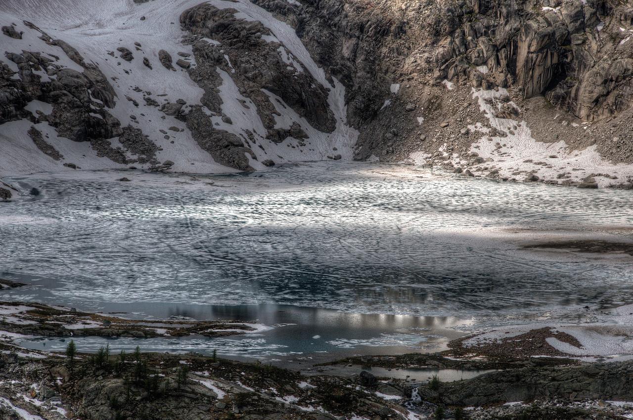 Icy Cobalt Lake