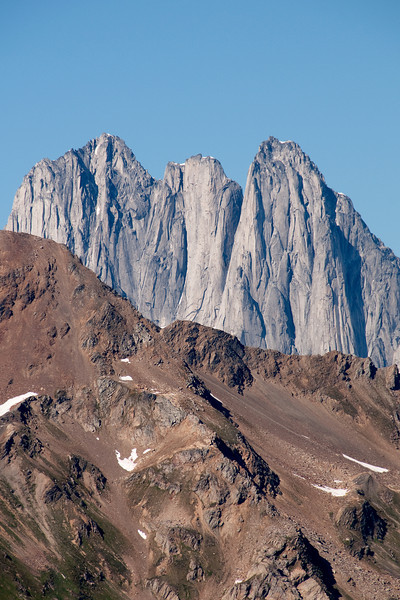 The West face of the Howsers from Schatzi