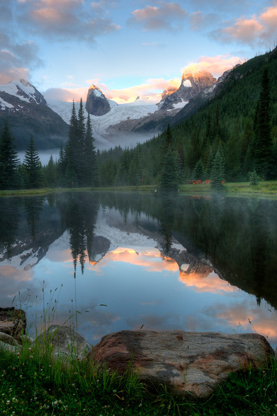 Morning Sunrise at Bugaboo Pond