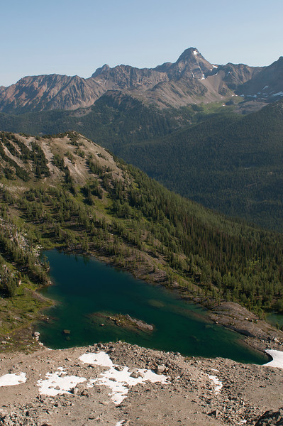 Pocket lakes and Mount Conrad Kain