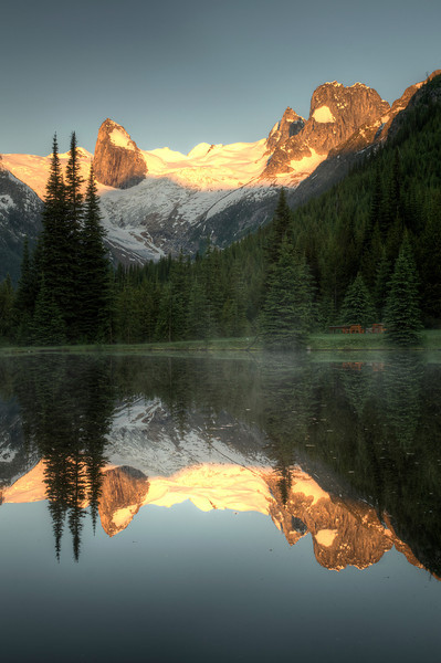 Morning at the Pond in the Bugaboos