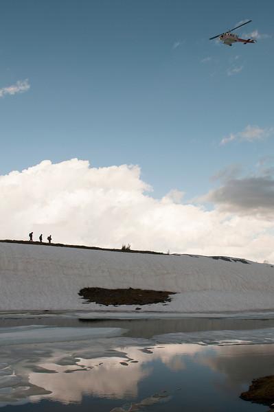 Heli Hikers at Dead Elk Lake