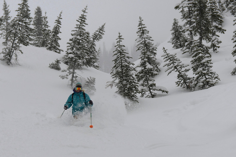 Devon skiing Terrace Chute