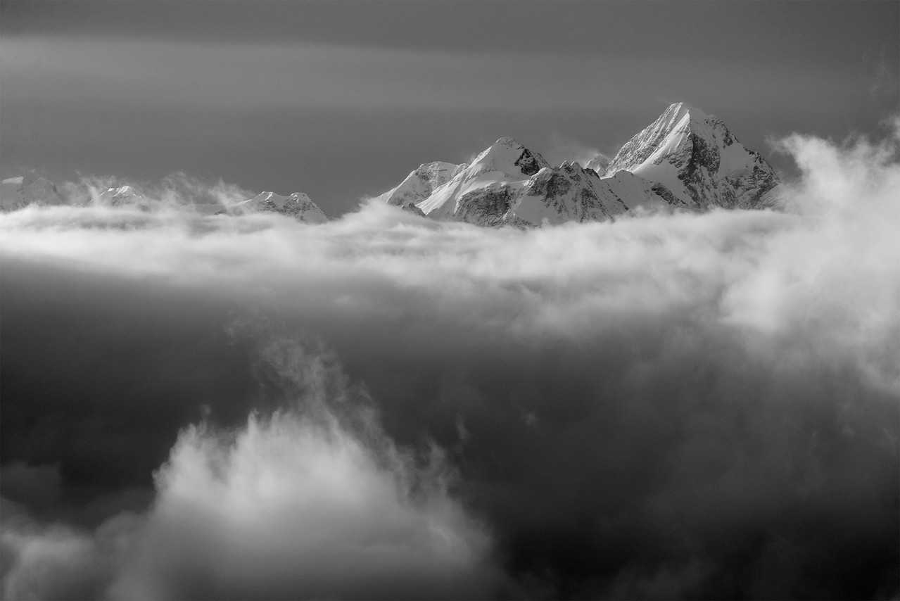Mount Templeman in the Clouds