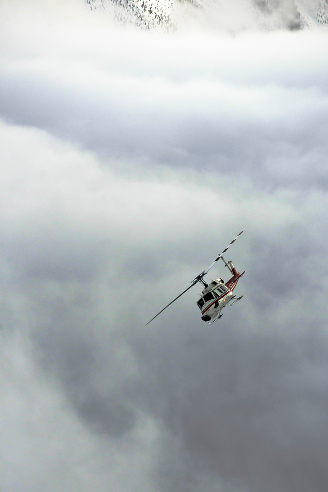 Flying over the Fog in the Duncan Valley