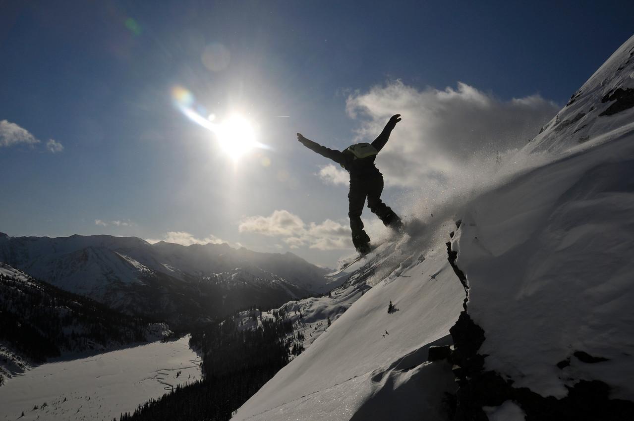 Rachel flying over Skidmark