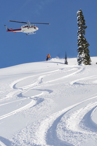 Dellow skiing Gritti