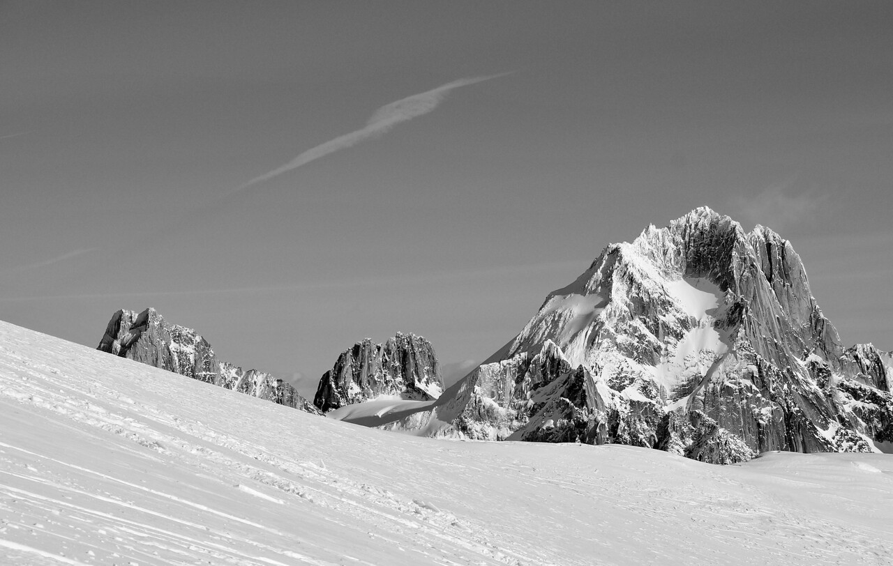Bugaboo, Snowpatch and the Howsers from McCarthy Glacier
