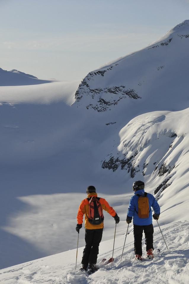 Looking over McCarthy Glacier