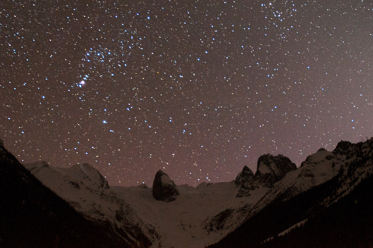 Stars out in the Bugaboos