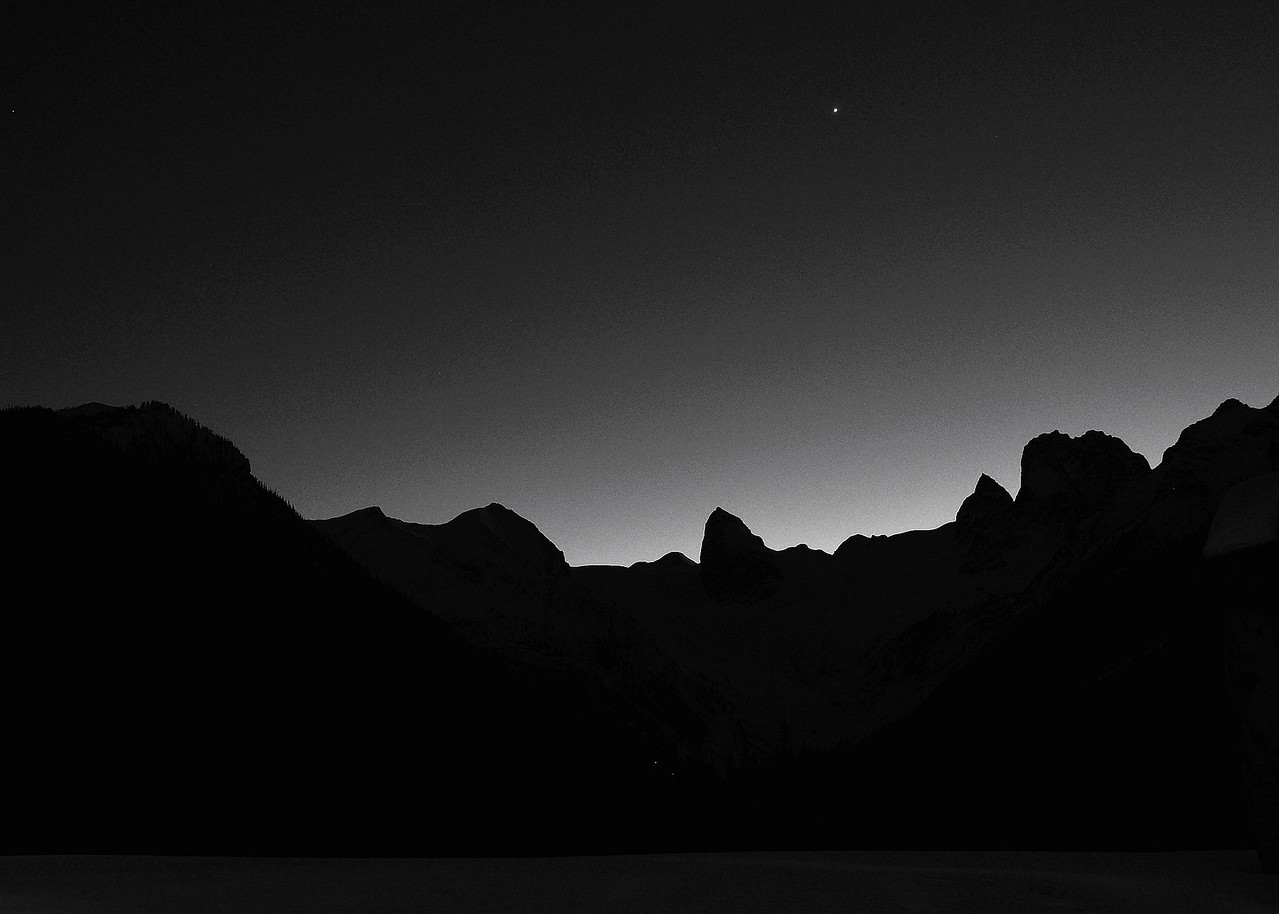 Evening Skyline, Bugaboos