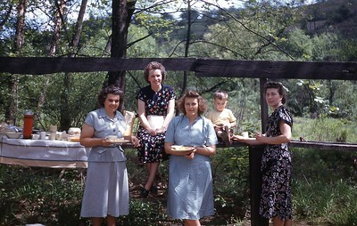 1948 Picnic on way home from Corbin