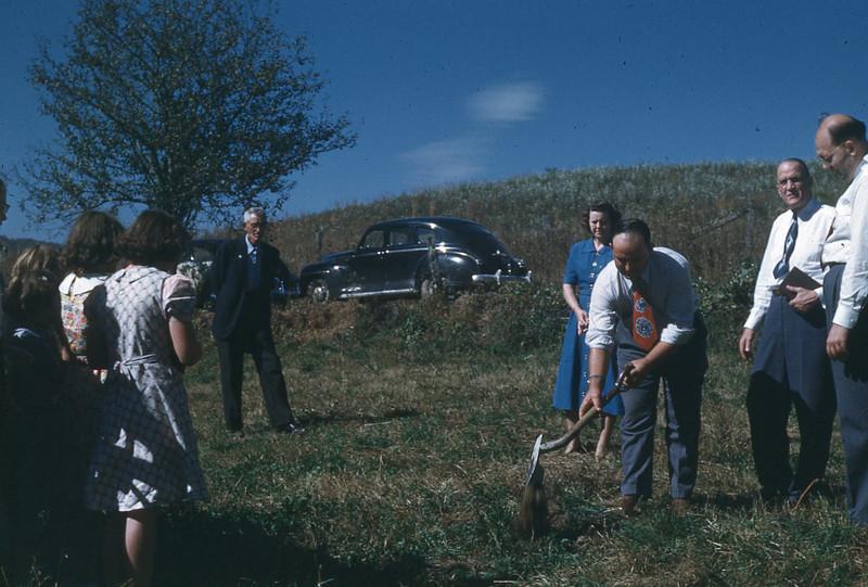 October 1950 - Groundbreaking for Larimer Chapel
