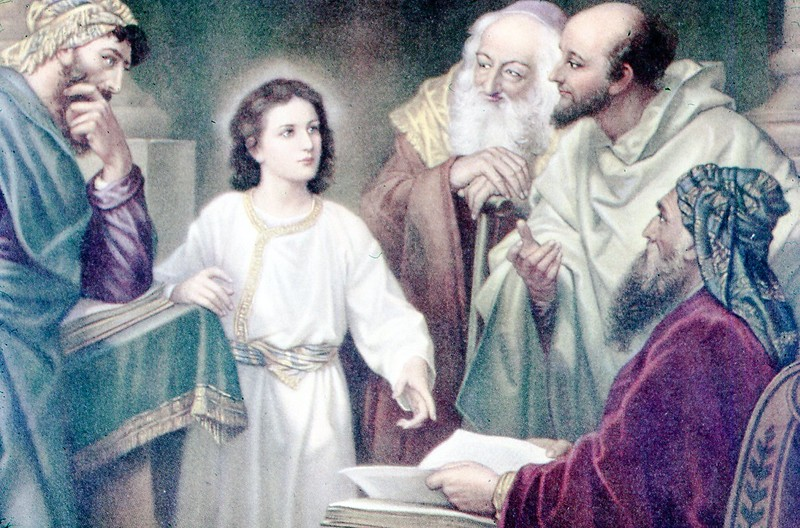 1951 - Painting of Jesus at the Temple