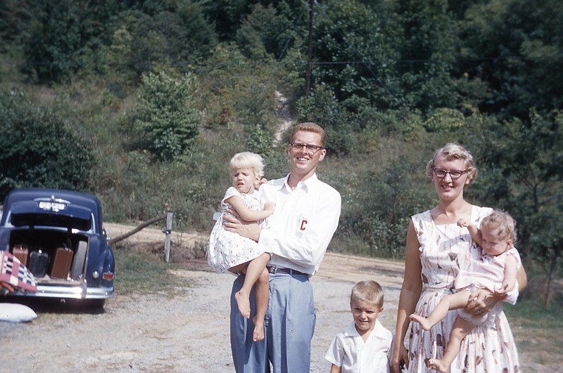 1957 Lindstrom family and Pam