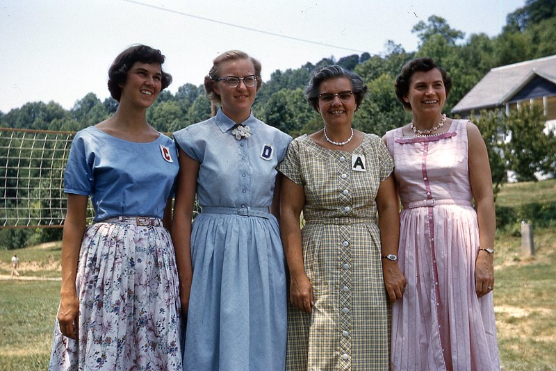 1957 Corinne, Frances, Winnie, Ruth