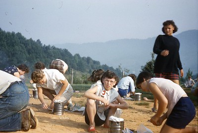 1960 - Girls Camp - Hobo Breakfast 1