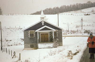january 1960-''WALLENS CREEK CHURCH IN THE SNOW''