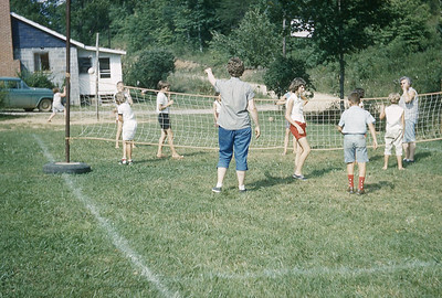 1960-''JUNIOR CAMPERS PLAYING VOLLEY BALL''