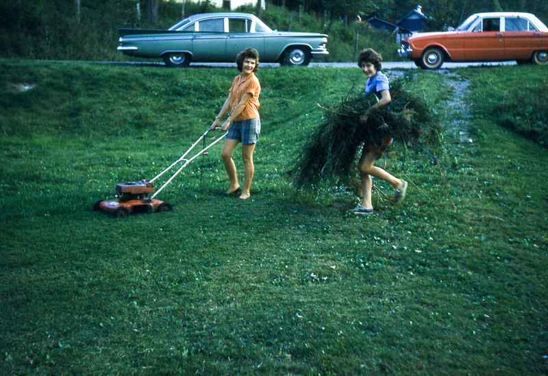 1962-''CLEANING THE CHURCH YARD''