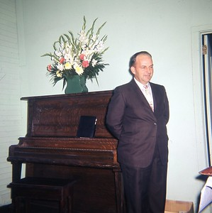 1962 - Treasurer Paul Rasnic at Community Center