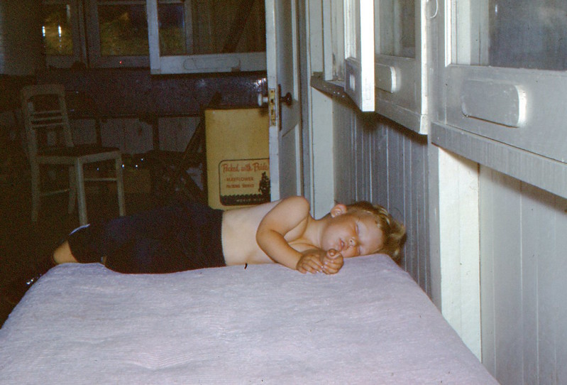 1966 - Lowell Berggren Completely Exhausted after Camp