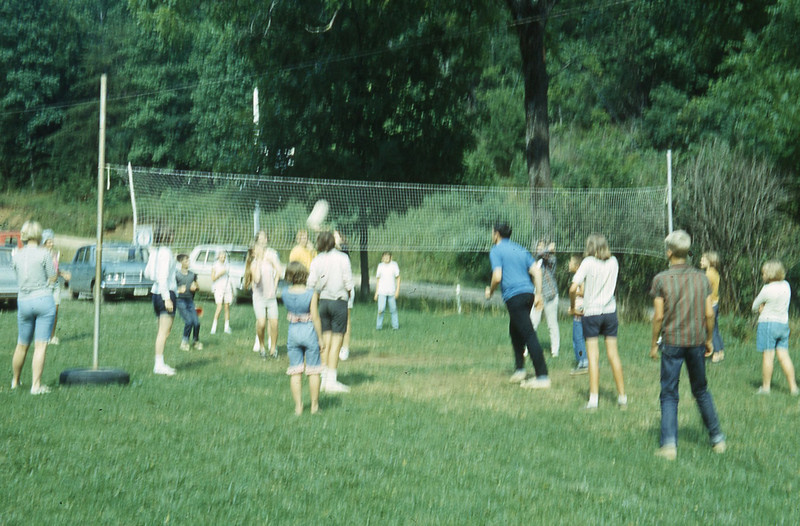 august 1967-''CAMP VOLLEY BALL GAME''