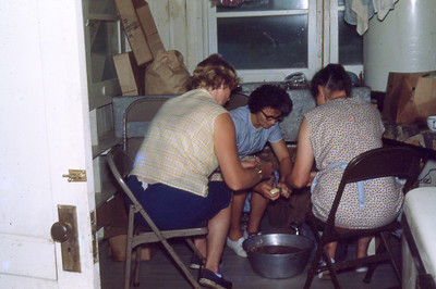 august 1967-''CAMP COOKS PEELING TATERS''