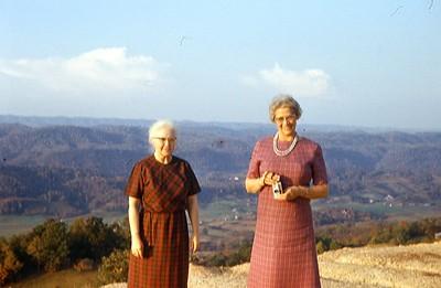 1968 - Dorothy Yougberg & Martha Bergman near VA-KY Border