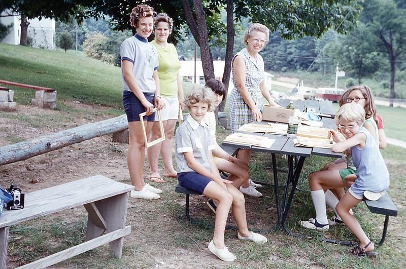 1970 Winnie Junior Camp painting frames