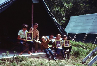 1970 WVS Bible Camp Boys at tent