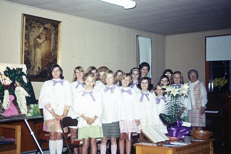 1970 Girls chorus Easter program
