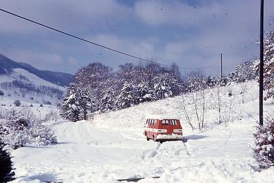 1970-''WINNIE'S VAN IN THE SNOW''