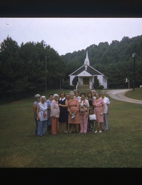 1974 Group Photo in front of church