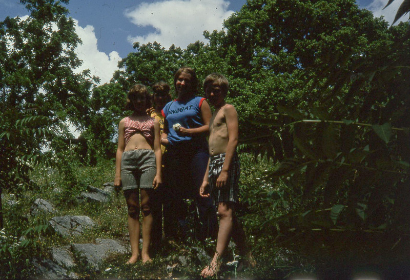 1974-''CAMPERS GETTING READY TO SWIM''