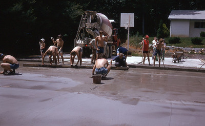 june 1975-''PAVING A BASKETBALL COURT''