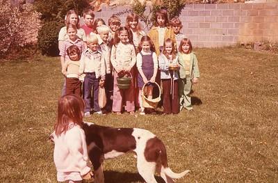 1977 Easter Egg hunt Winnie