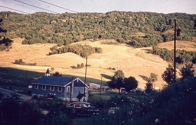 september 1966-''EVENING SHADOW ON WALLENS CREEK CHURCH''