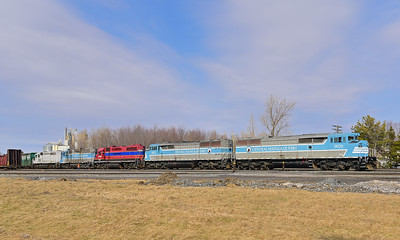 Central Maine & Quebec #2, Farnham Yard, Quebec, March 6 2017.