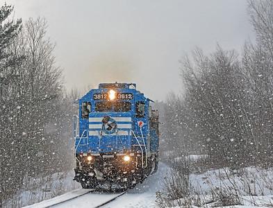 Central Maine & Quebec # 630, Foster, Quebec, January 7 2017.