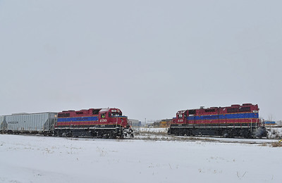Central Maine & Quebec #810, Iberville Industrial Park, Quebec, February 12  2017.