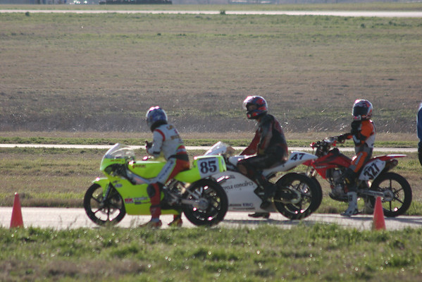 Bikes on the track at 0803-0813 Sat.