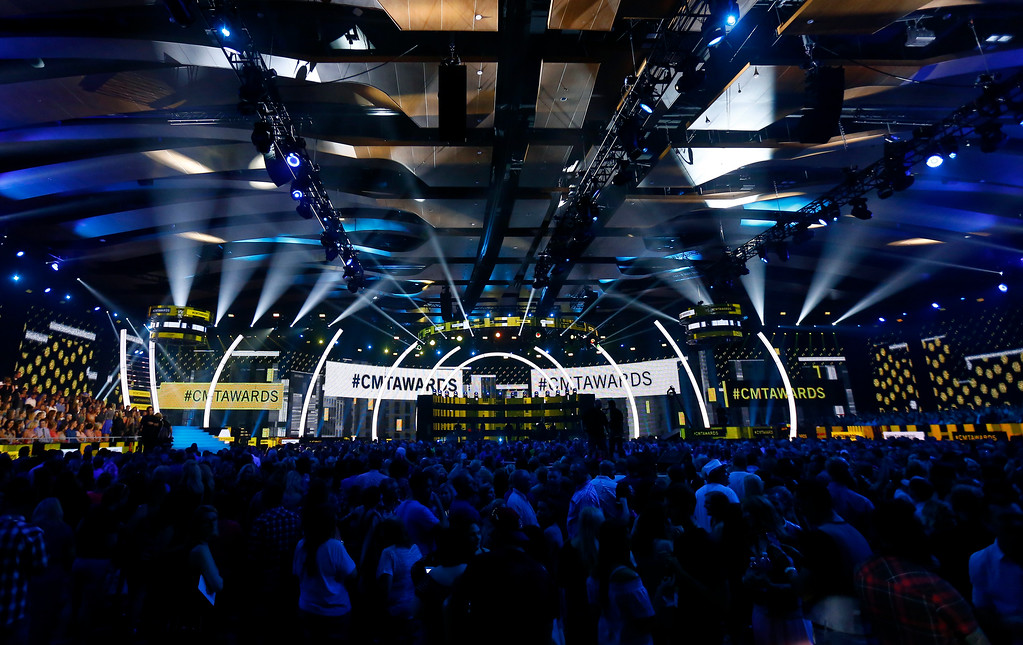. View of the audience and stage at the CMT Music Awards at Music City Center on Wednesday, June 7, 2017, in Nashville, Tenn. (Photo by Wade Payne/Invision/AP)