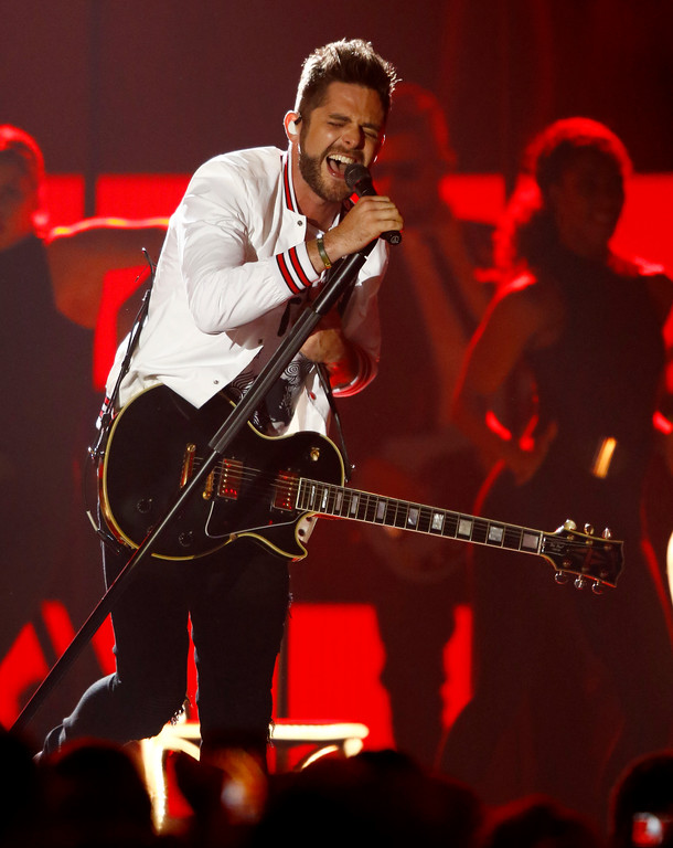 ". Thomas Rhett performs ""Craving You\"" at the CMT Music Awards at Music City Center on Wednesday, June 7, 2017, in Nashville, Tenn. (Photo by Wade Payne/Invision/AP)"