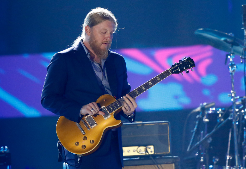 ". Derek Trucks perform ""Midnight Rider\"" during a tribute to Greg Allman at the CMT Music Awards at Music City Center on Wednesday, June 7, 2017, in Nashville, Tenn. (Photo by Wade Payne/Invision/AP)"