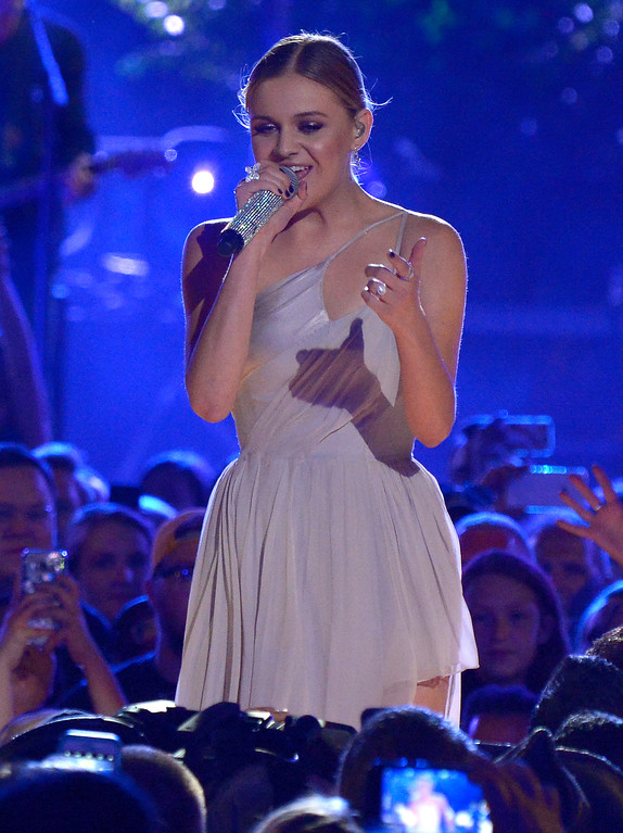 ". Kelsea Ballerini performs ""Legends\"" at the CMT Music Awards at Music City Center on Wednesday, June 7, 2017, in Nashville, Tenn. (Photo by Amy Harris/Invision/AP)"