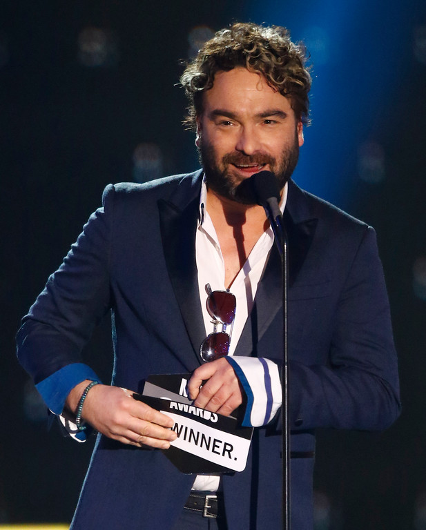 . Johnny Galecki presents the award for duo video of the year at the CMT Music Awards at Music City Center on Wednesday, June 7, 2017, in Nashville, Tenn. (Photo by Wade Payne/Invision/AP)