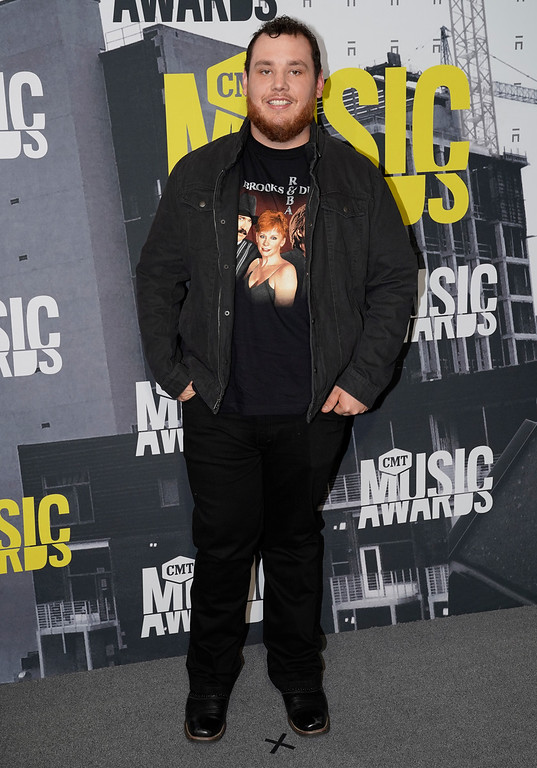 . Luke Combs arrives at the CMT Music Awards at Music City Center on Wednesday, June 7, 2017, in Nashville, Tenn. (Photo by Sanford Myers/Invision/AP)
