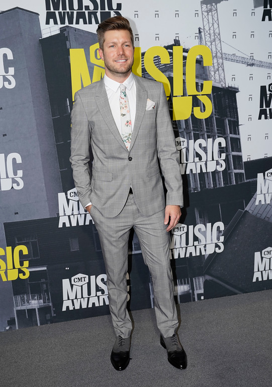 . Jacob Davis arrives at the CMT Music Awards at Music City Center on Wednesday, June 7, 2017, in Nashville, Tenn. (Photo by Sanford Myers/Invision/AP)
